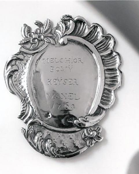 Schuttersplaten Keizer Melchior Bovy 1769
