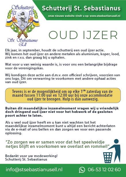 Oud ijzer flyer